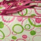 JOJO Designs Girl Crib Bedding Nursery Set Pink Green Mod Dot Bumper and Skirt