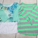 Justice Girl Tops Long Sleeve Top Sz 20 XXL Cute For School Or Everyday Wear