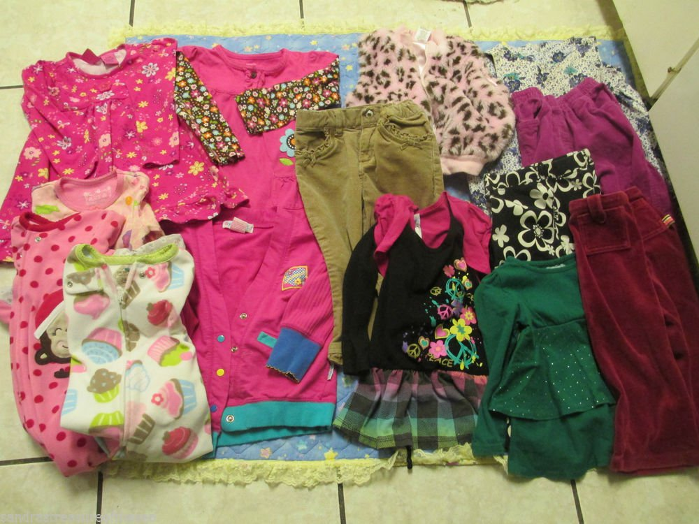Girl 2T 24M Clothing Lot Tops Dresses Vest Pants Genuine Baby Jumping Beans RMLA