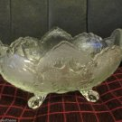 Vintage  Lombardi Amberina Flashed or Clear Footed Fruit Bowl by Jeanette 1957