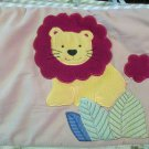 Tiddliwinks Baby Crib Bumper Appliqued Jungle Animals On Light Background Lion