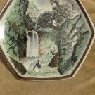 Vintage Toyo Sansui Japan Asian Mountain Scene Polygon Shape Decor