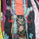 Antique Embroidered Wrap Style Silk Wedding Skirt Qing Dynasty Mandarin Folkwear
