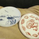 Vintage Decorative Collectible Plates Seashells Seagulls Down East Crafts Japan