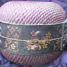 Antique Primitive Chinese Willow Food Rice Fish Basket Collectible Handpainted