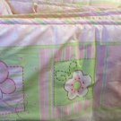 Cute Baby Crib Bumper Pad Baby Connection Flowers Butterflies Bees Pink White