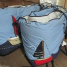Pottery Barn Kids Nautical Cape Cod Sailboats Standard Crib Bumper Boys Blue