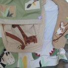 Kids Line Nursery Zanzibar  Animals Soft Tones Crib Skirt and Hamper Bag Cute