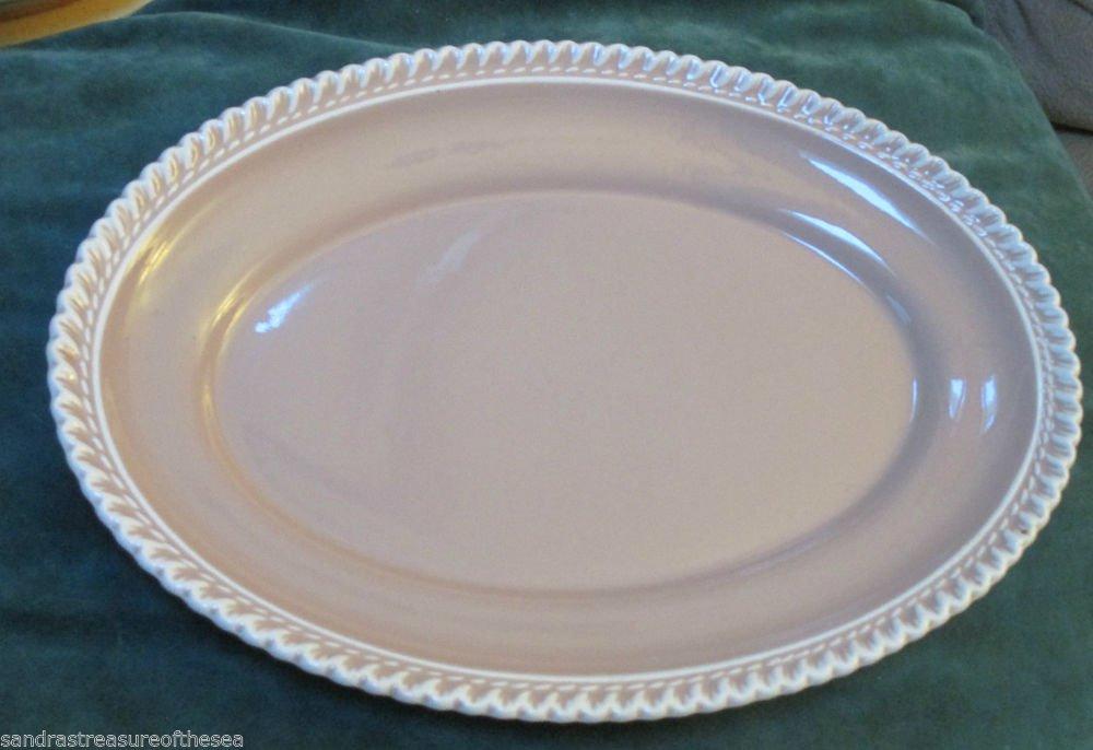 Harker Pottery Chesterton Platter Pink Cocoa 12 In Platter MidCentury Harkerware