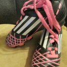 Youth Little Girls Adidas Soccer Cleats Sz.10.5. Black Pink Accent Cleats Sports