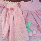 Two Pink 12 Mos Baby Dresses Summer Ashley Ann Plus Austin Ashley 2pc Outfit