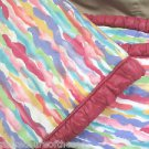 Custom Made Baby Crib Bumper and Ribbon Tie Quilt Vibrant Water Colors Xtra Nice