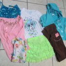 Lot Justice Girl Tops Long Short Sleeve Justice Jeans Pants Skirt Gymboree sz 12