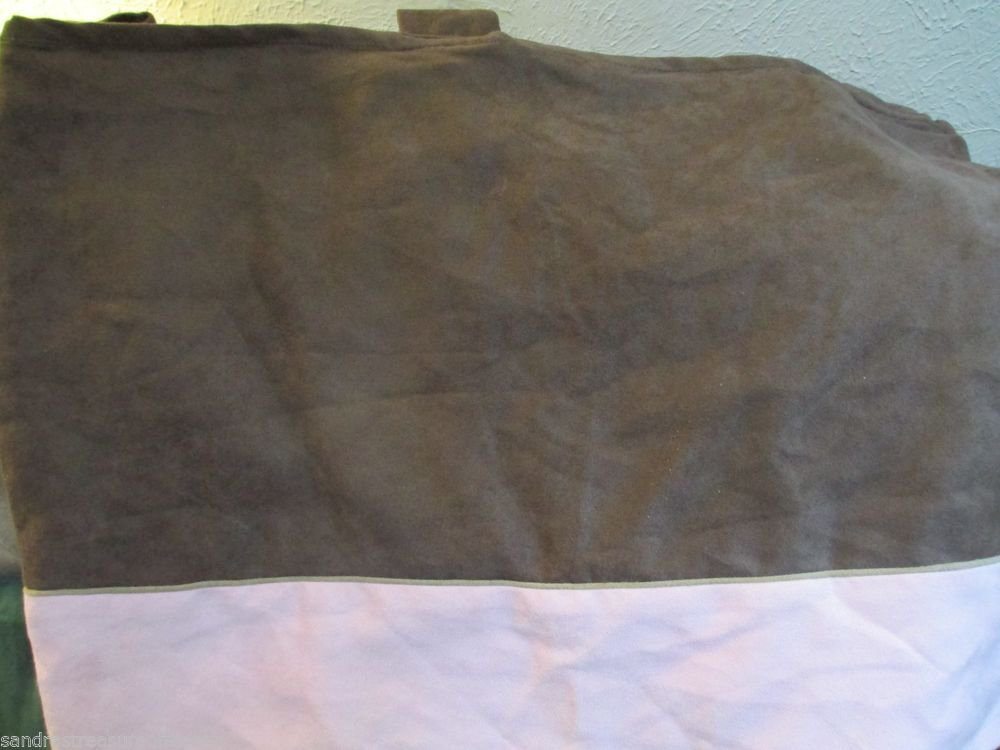 Nursery Decor Valance Girls Brown and Pink Chamois Polyester  Material Very Nice