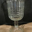 Vintage Footed Celery Vase Ribbed With Three Diamond bands Ten Inches Excellent