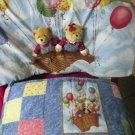Baby Bumper Set Pad Headboard Skirt Blue Jean Teddy Company By Spring Industries
