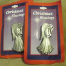 Two Seraphim  Classic Angel Pins by Roman Inc Christmas Blessings Always Timely