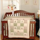 Five Pc Classic Disney Winnie the Pooh Baby Crib Bedding Gingham Check Fleece