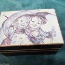 Vintage Sankyo Wooden Music Box Plays Raindrops Keep Falling On My Head Japan