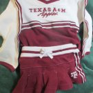 Cute Girls Texas A&M Aggie Cheerleader Uniform 12 Months By Red Oak Sportswear