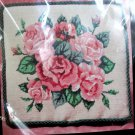 Roses In Bloom Mesh Canvas Pillow Kit by Bucilla No 4693 NIP 12 X 12 Picture