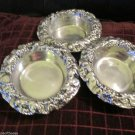 Three Mini Grape Round  Bowls From Old Town Imports Handmade Aluminum Wear