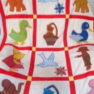 Handmade Toddler Baby Bed Or Daycare Nap Quilt Nursery Rhyme Boys Girls Animals