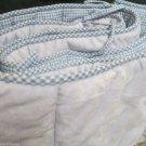 Pottery Barn Kids Blue Minky W Checked Reverse Standard Crib Bumper Boys Blue