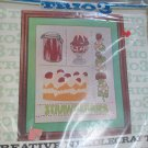 Vintage 1976 Embroidery Needlecraft Strawberries by Nancy Edwards Trio3 NIP 1154
