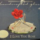 Glass Baron Collection I LoveYou Rose Swarovski Crystal Handcrafted Glass