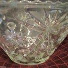 Precut Clear Pattern Crystal by Anchor Hocking 1960 Punch Bowl