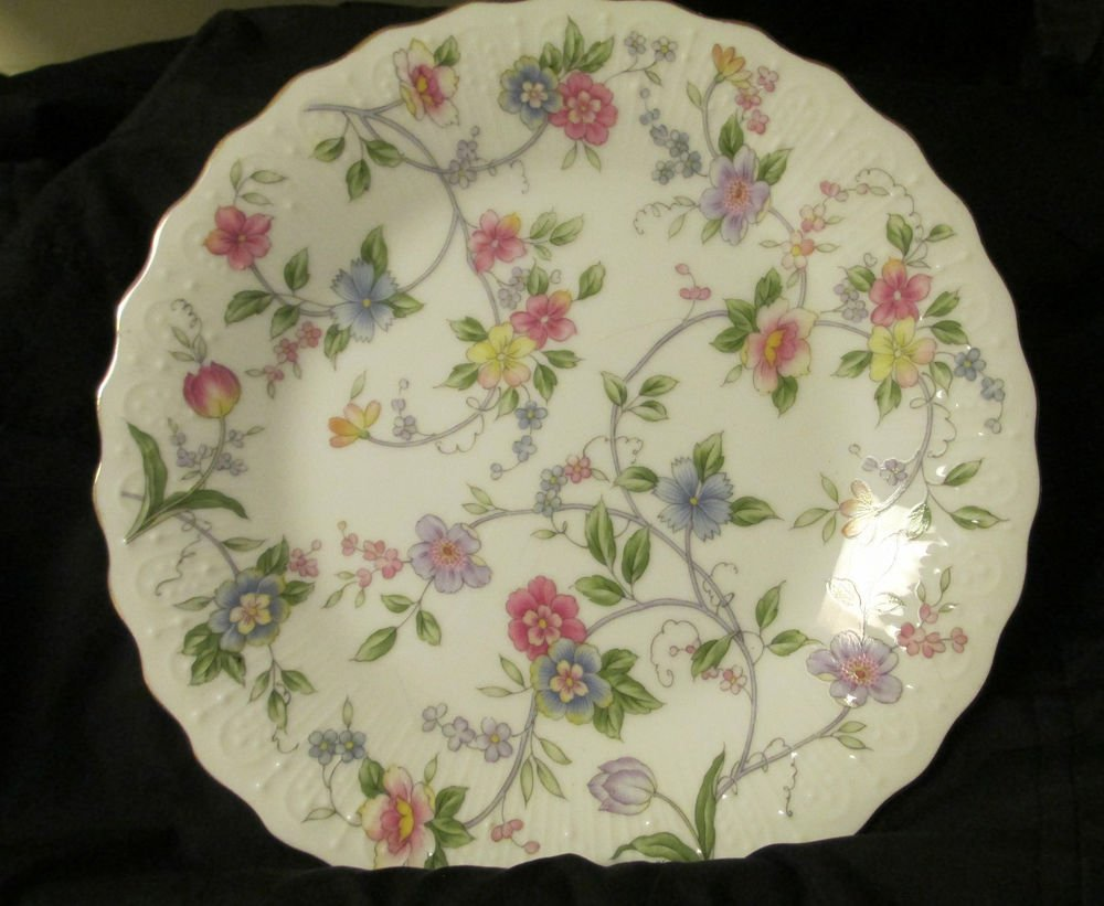 Vintage Corona Andrea by Sadek  Made Japan Cute Multi Color Floral Design Plate