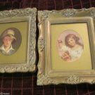 Two Small Nicely Framed Prints Sully The Torn Hat Russell Child With Cherries