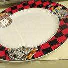 Sakura Roadside 1993 Salad Plate Design by Sue Zipkin Retro 50s Route 66 Diner