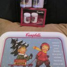 Campbells Soup Kids Tray 1993 Plus Salt and Pepper Set 1996  Plus Spoon Rests