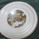 Harker Pottery Currier Ives Mid Century Harkerware USA Dessert Plate Homestead