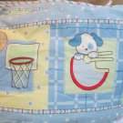 Cute Blue Sports Puppy Dog Nursery Standard  Crib Bedding Bumper And Sheet