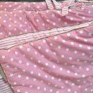 Dwell Studio Pink White Floral Stripe Nursery Standard Crib Bumper And Sheet
