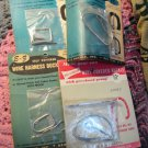Four Vintage E Z Metal Self Covered Wire Harness Buckles Width 1/2 to 2 1/2