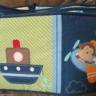 Cute Four Pc Boys Jungle Safari Animal Set To Go Airplane Car Boat Crib Bumper