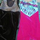 Two Girls S Sz 5 to 6 Sparkle Gymnastic Leotard Unitard  Alpha Factor Motionwear