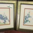 Two Edward Art Products Framed Prints Oriental Birds Signed For Personal Gallery