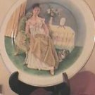 Vintage Chinese  Lady Portrait Transfer Plate Gold Trim