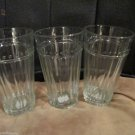 Four Anchor Hocking 20 oz Ribbed Beverage Water Glasses