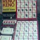 Vintage Reno Keno ES Lowe Game of Poker Keno 1961 PLUS Two Packs TWA Cards