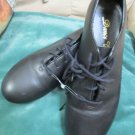 Unisex Dance Class Black Leather Tap Dance Shoes Group Dance 7.5 M Rhythm Tones