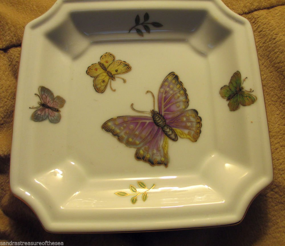 Andrea by Sadek Oriental Porcelain Butterfly Collectible Plate 6993 Japan