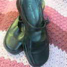 Womens Black Leather Bare Traps Eclipse Mary Jane shoes Size 6.5 Comfy Shoe
