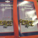 Two Peace Sign Pins W Baby Jesus by Roman Inc Christmas Blessings Always Timely