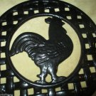 Rooster Trivet Wrought Iron Art Use As Hot Pad Hang Up